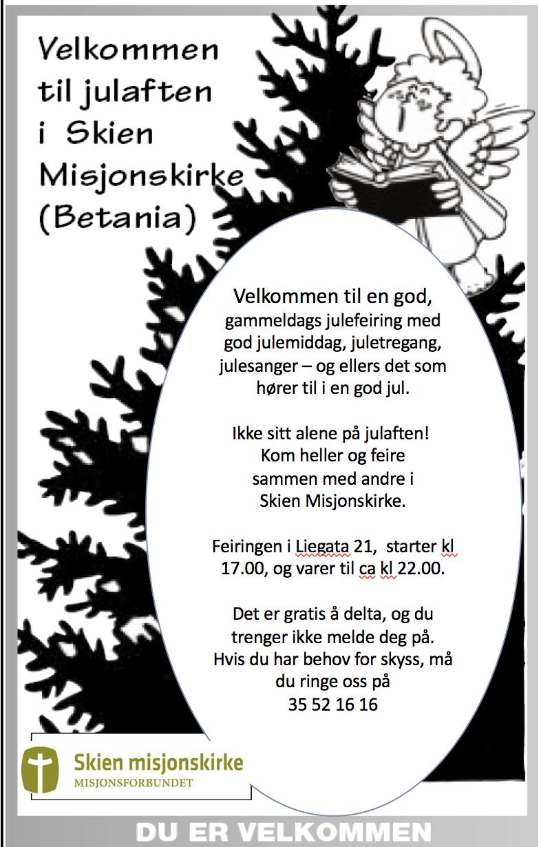 Julaften i Misjonskirken