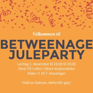 Betweenage-juleparty
