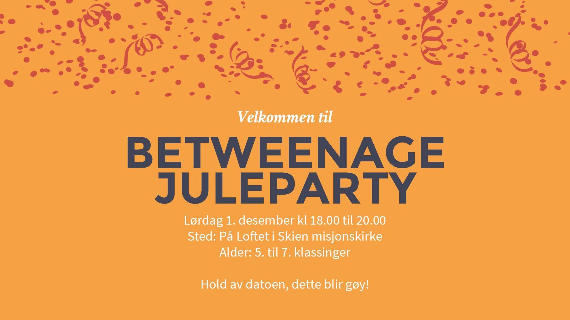 Btweenage-party desember