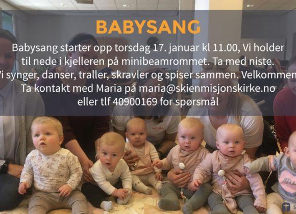 17. januar starter babysang igjen