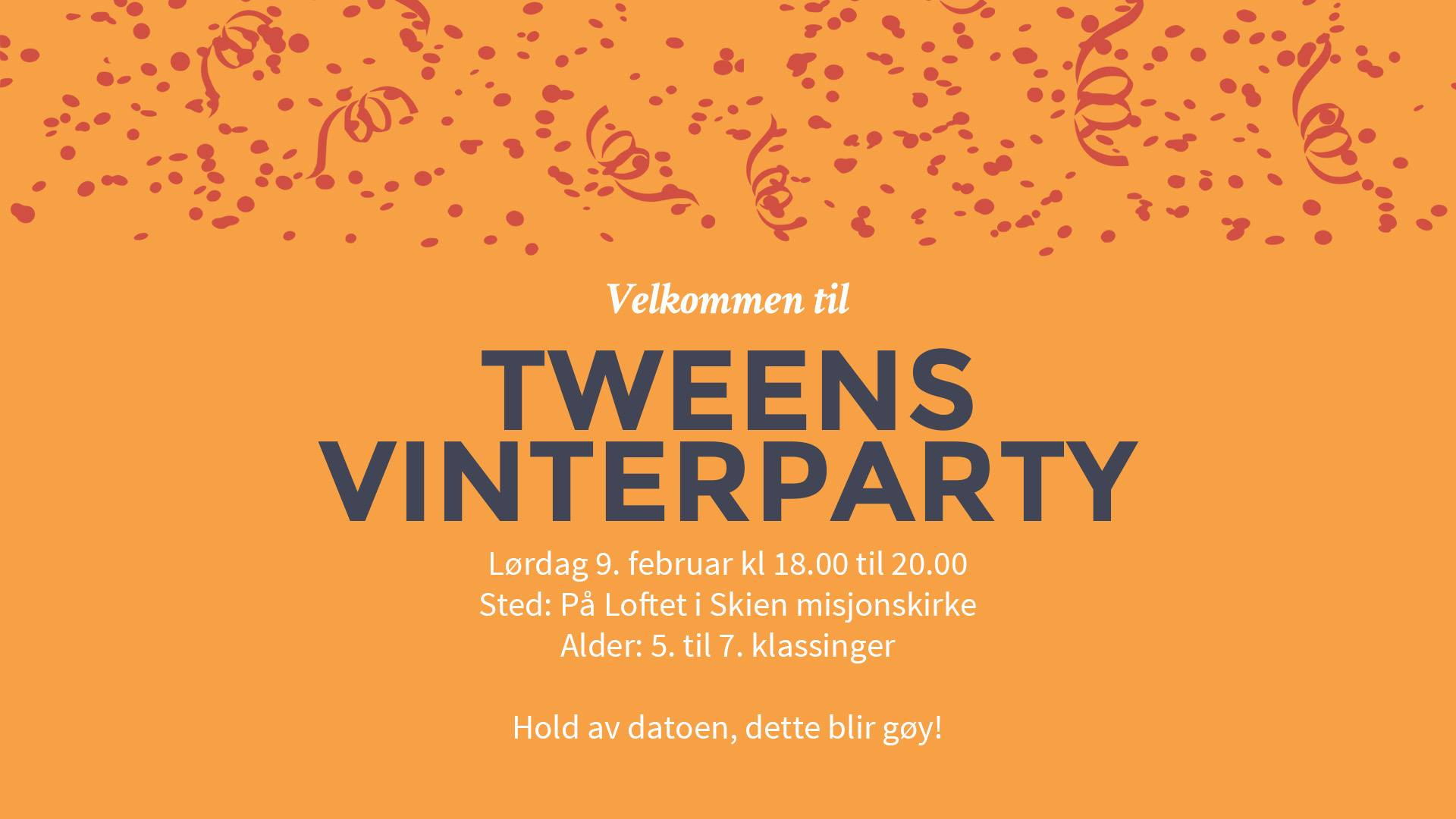 tweens vinterparty